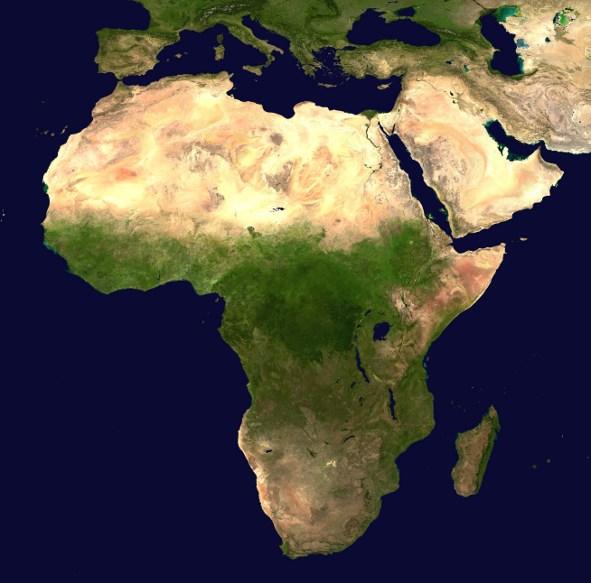 Afrika Satellitenaufnahme